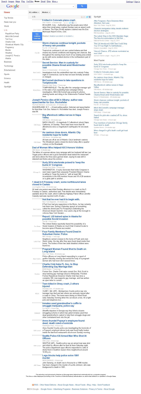 Google News: U.S. at Sunday Aug. 31, 2014, 11:08 p.m. UTC